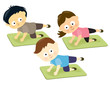 Kids on mats