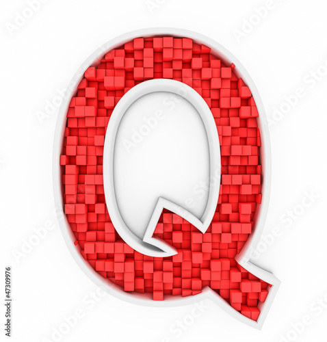 Red letter Q