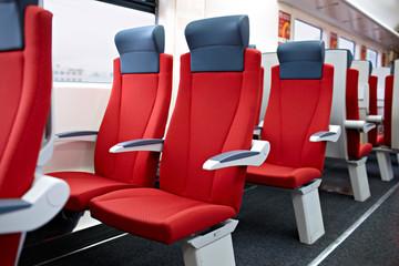 Modern high speed train interior.