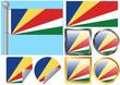 Flag Set Seychelles