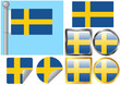 Flag Set Sweden