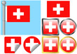 Flag Set Switzerland