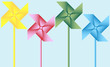 Set of 4 Origami Pinwheels