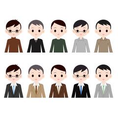 中年の男性 10人