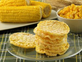 Galletas dietéticas de maíz,choclos.Bizcochos de maíz.
