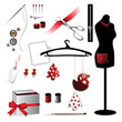 Sewing accessories elements