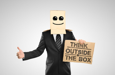 happy box on head