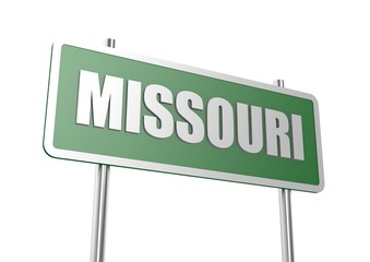 Missouri sign board