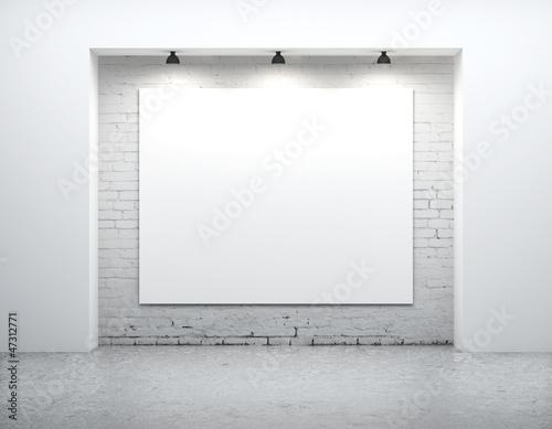 blank on wall
