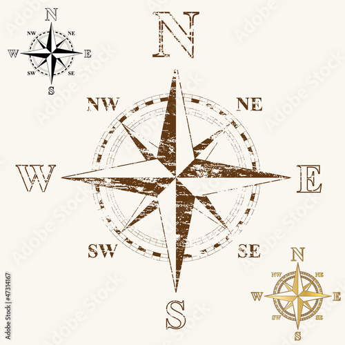 Faded Compass Rose
