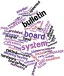 Word cloud for Bulletin board system