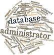 Word cloud for Database administrator