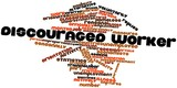 Word cloud for Discouraged worker