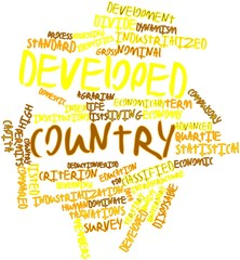 Word cloud for Developed country