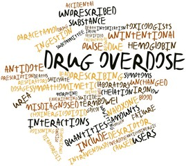 Word cloud for Drug overdose