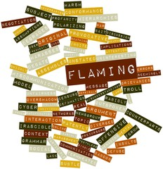 Word cloud for Flaming