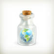 Earth in a bottle, icon