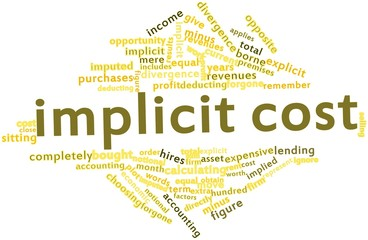 Word cloud for Implicit cost