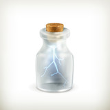 Lightning in a bottle, icon