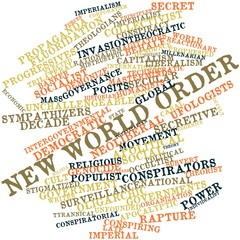 Word cloud for New World Order