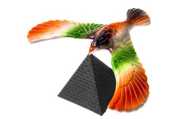 bird on the white background