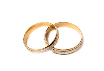 rings on the white background