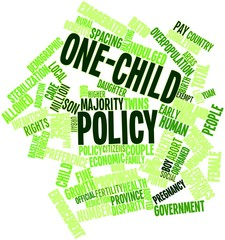 Word cloud for One-child policy