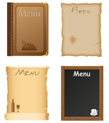 restaurant and cafe menu design vector illustration