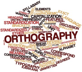 Word cloud for Orthography