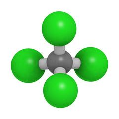 Carbon tetrachloride (CCl4, carbon tet) molecule