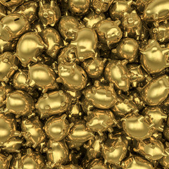 Gold piggybanks