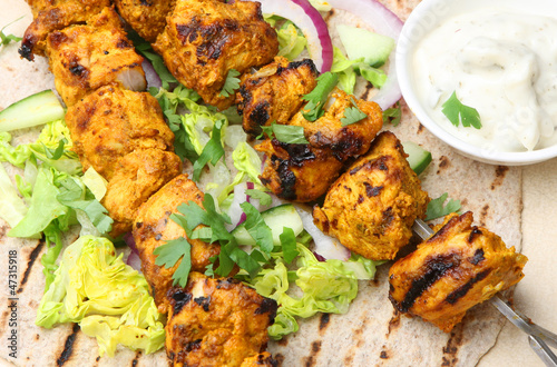 Chicken Tikka Chapatti Wrap