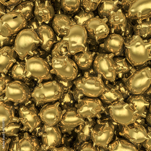 Gold piggybanks
