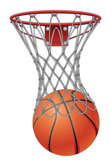 Basketball Through Net