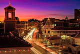 Fototapety Kansas City Plaza Christmas Lights Skyline