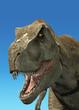 Photorealistic 3 D rendering of a Tyrannosaurus Rex.