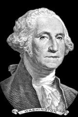 George Washington portrait on black