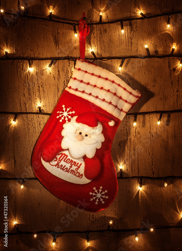 Red Christmas sock