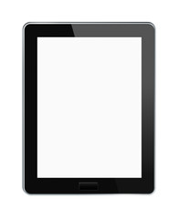 Blank digital tablet with clipping paths