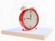 Red Vintage Alarm Clock in 3D