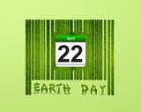 Barcode Earth day. poster