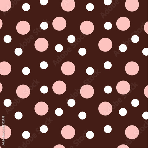 vector illustration pink and white dots pattern
