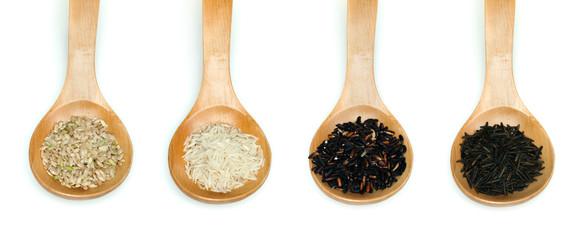 Rice integral, basmati, Wild rice and black rice