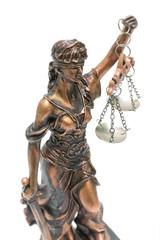 Justice statue close-up