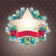 christmas vintage star banner