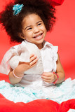 laughing little black girl