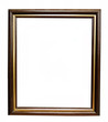 Wooden - golg  frame: wood and canvas, italian style, isolated o