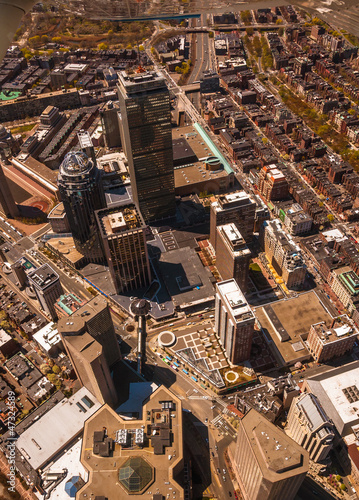 Boston Back Bay aerial