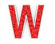 Red letter W