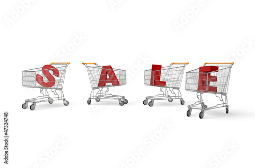 Carts forming sale sign